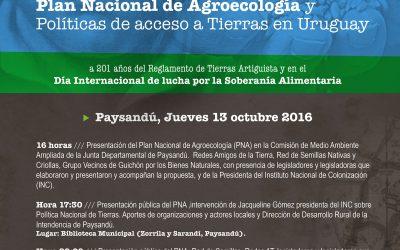 Con una serie de encuentros se presenta en Paysandú el Plan Nacional de Agroecología